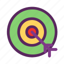 business, finance, management, marketing, target icon