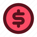 business, coin, finance, management, payment icon
