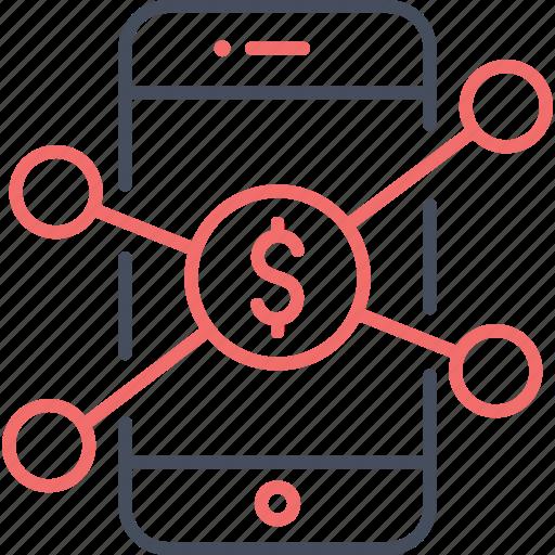 market, marketing, mobile, money, transfer icon