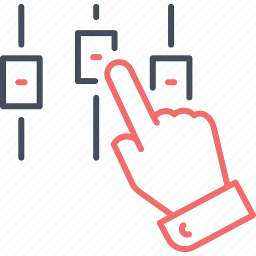 adjustment, business, hand, setting, settings, technical analysis icon