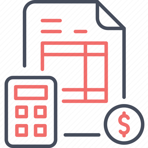accounting, bill, business, calculation, invoice, money icon