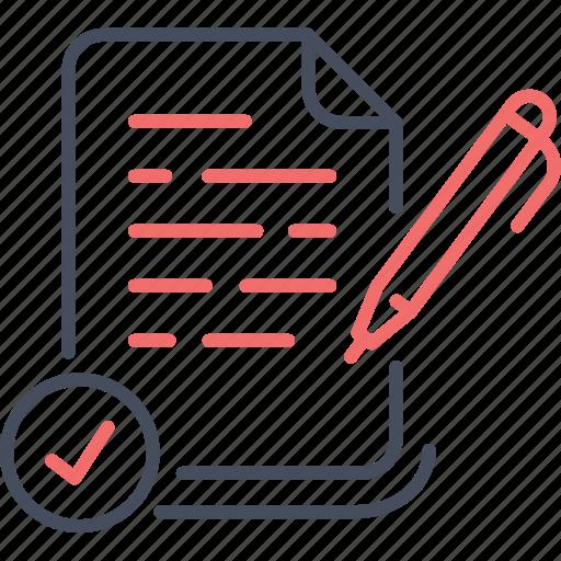 business, note, paper, pen, report, write icon