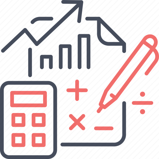 accounting, business, calculation, calculator, document, report icon