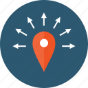 any direction, delivery, directions, distribution, distributor, geozone, logistics, marketing, near, nearby, pin, pinpoint, spread, zones, anywhere icon