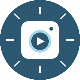 instagram, stories, video icon