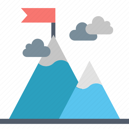 Challenge, climb, contest, effort, flag, mountain, overcome icon - Download on Iconfinder