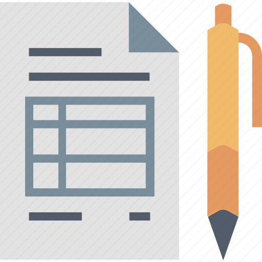 document, goods, invoice, pen, services, sign, summary icon