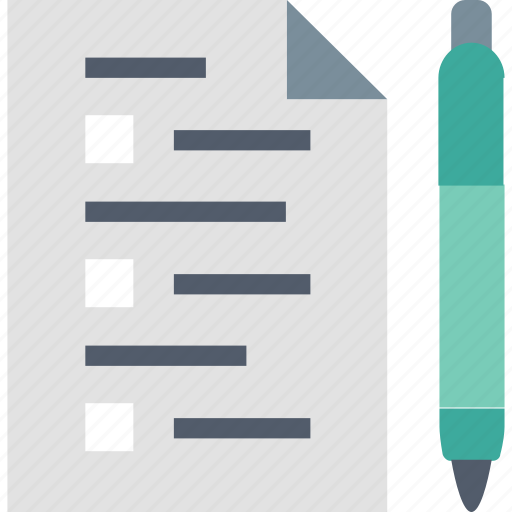 business, document, paper, pen, planning, strategy, vision icon