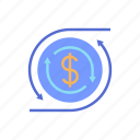 business, currency, finance, flow, marketing, money, payment icon