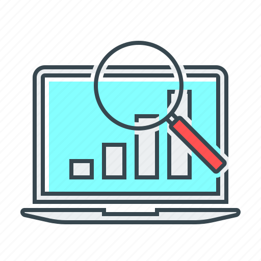 case, case study, magnifying, search, seo, study icon