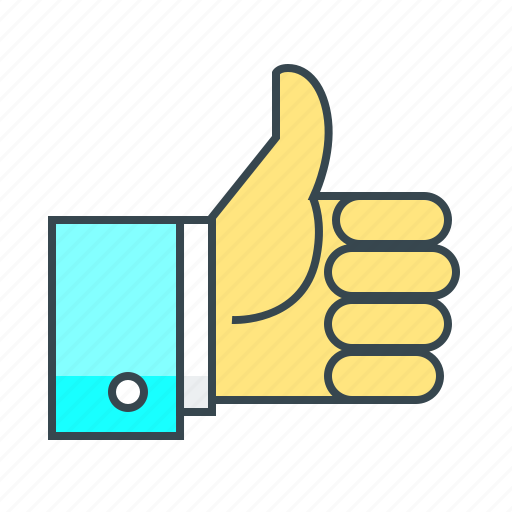 approval, integration, like, ok, social integration, thumbs up icon
