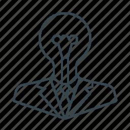 bulb, creative, design, idea, lamp icon