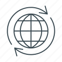 earth, global, globe, international, internet, planet icon