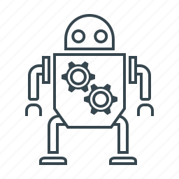 android, artificial intelligence, innovation, mechanism, robot, technology icon