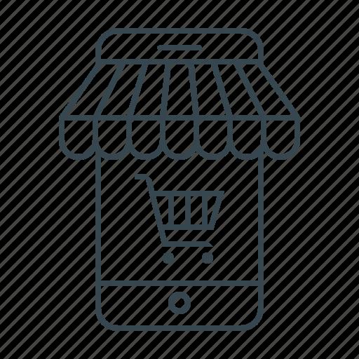 -, ecommerce, mobile, mobile shop, shop, smartphone, store icon