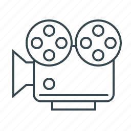 camera, film, movie, video, video marketing icon