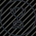 award, business, leadership, line, marketing, success, trophy
