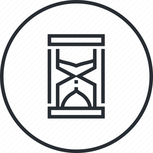 business, hourglass, line, marketing, schedule, time icon