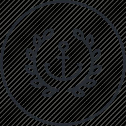 anchor, business, line, marketing, premium, text icon