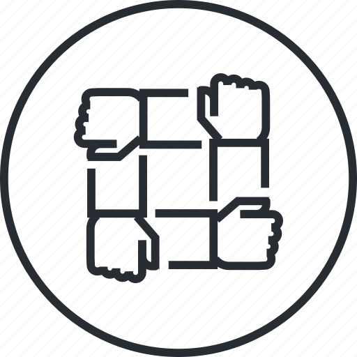 business, line, marketing, team, teamwork icon
