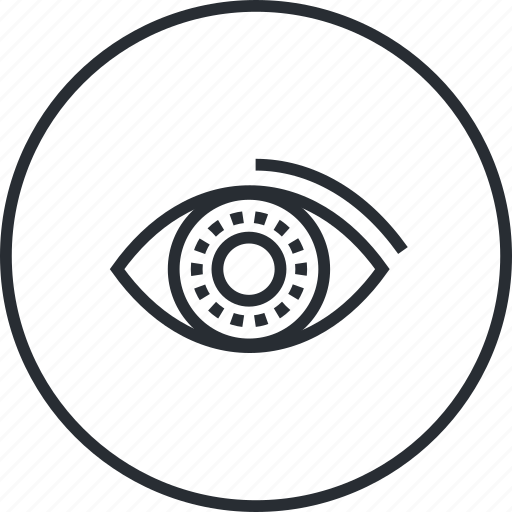 business, control, eye, line, marketing icon