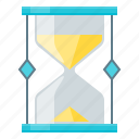 deadline, hourglass, time icon
