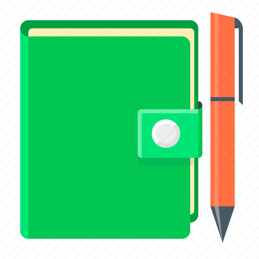 diary, note, notebook, pen icon