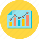analytics, analysis, chart, diagram, graph, statistics icon
