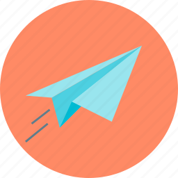 launch, paper plane, project icon
