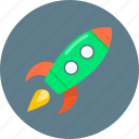 mission, rocket, spaceship, startup icon
