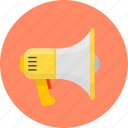 advertising, loudspeaker, megaphone, mouthpiece, speaker icon
