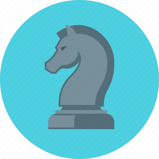 chess figure, horse, marketing, strategy icon
