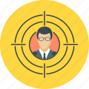 audience, goal, marketing, target, target audience icon