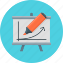 board, chart, diagram, presentation, training icon