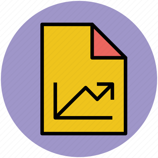 analysis, analytics, business report, graph report, graphic file, statistic icon