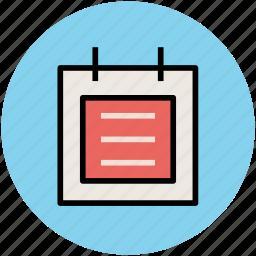 agenda, index, notepad, plan, reminder, report icon