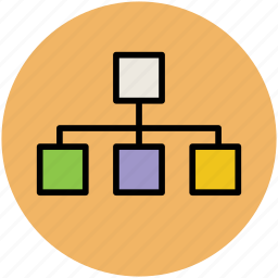 hierarchy, hierarchy structure, interlink, network, networking, technology icon