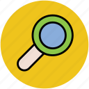 magnifier, magnifying glass, search tool, view, zoom icon