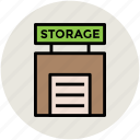 depot, godown, storage, storehouse, storeroom, warehouse icon