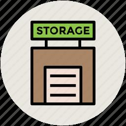 depot, godown, storage, storehouse, storeroom, warehouse icon