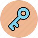 door key, house key, key, lock, locked, password, retro key, safe, secure icon