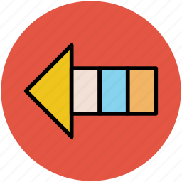 arrow, back, direction, hint, left, pointing icon