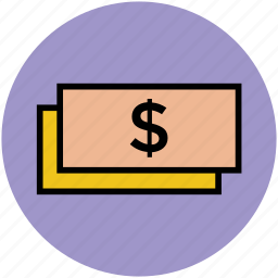 bank note, cash, currency, currency note, dollars, finance, money icon