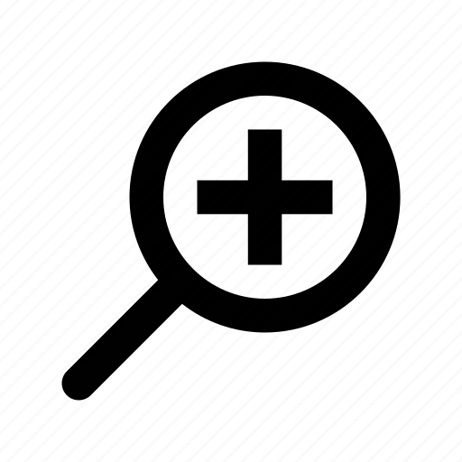 magnifying glass, maximize, search tool, zoom in, zoom tool icon