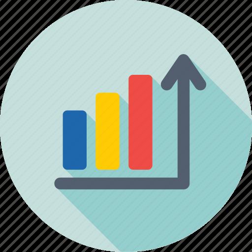 ascending, bar chart, bar graph, growth chart, progress icon