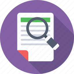 file scanning, magnifier, search document, search file, search page icon