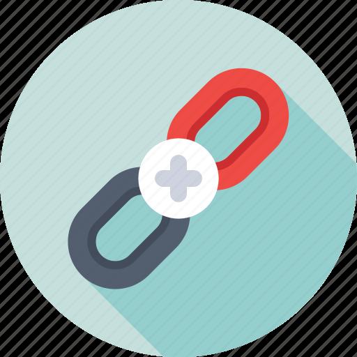 add link, backlink, hyperlink, link, web link icon