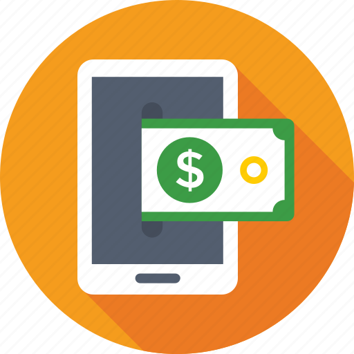 banking app, banknote, m commerce, mobile banking, online banking icon