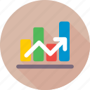 bar chart, business graph, business growth, graph, growth chart icon