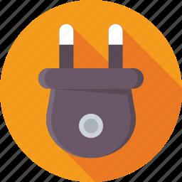 cord, electrical, plug, power, power plug icon